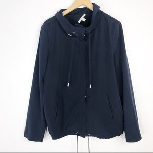 St. John Navy Blue Snap Utility Jacket